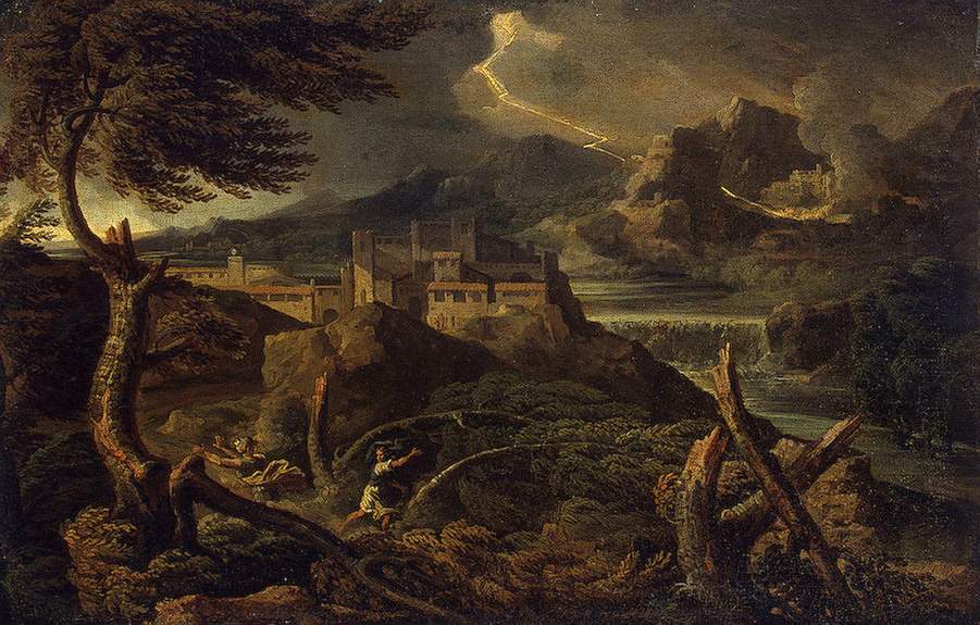 Dughet Gaspard (Gaspard Poussin)-xx-Landscape with Lightning-xx-Late 1660s